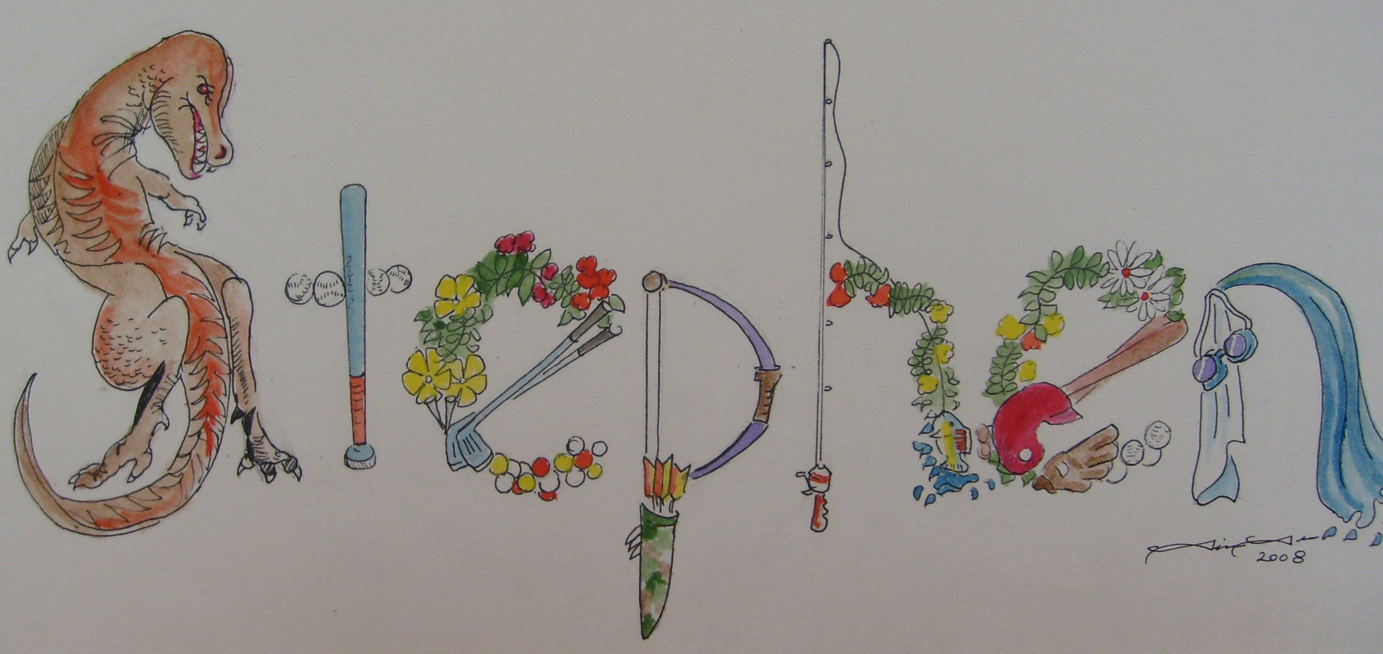 Letter Made Out Of Objects.Tim Tron Art Peronalized Name Art Page